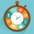 depositphotos_38412453-Vector-flat-concept---time-management
